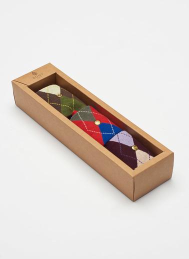 Katia & Bony 3 Lü Paket Argyle Kadın Çorap Seti Renkli